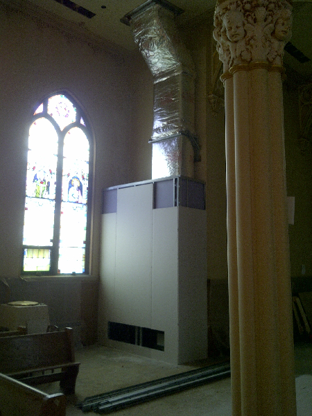 awaited Church renovation/construction has begun! See the pictures ...